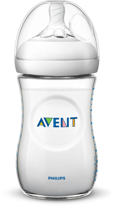 Philips Avent Natural Baby Bottle, 9oz, 1-Pack - Clear