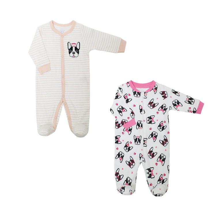 Koala Baby Girls 2 Pack Sleeper - Dog Princess, Preemie