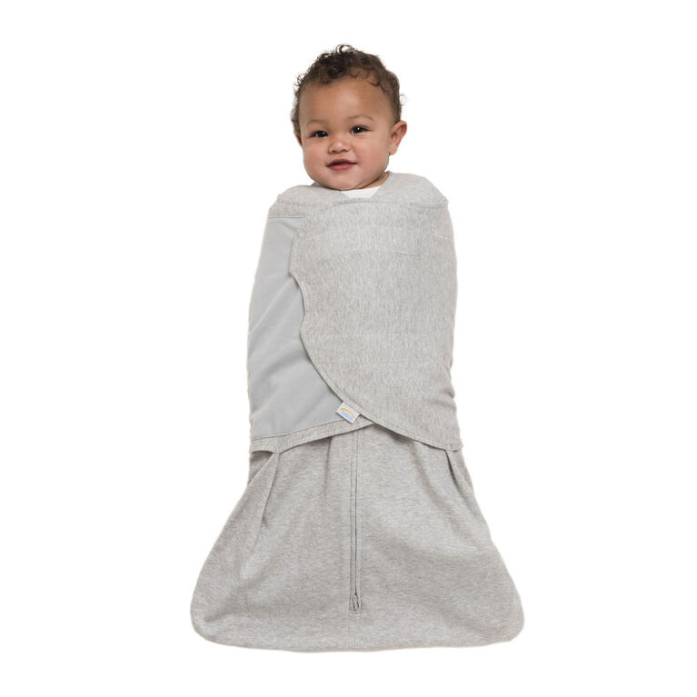 HALO SleepSack Swaddle - Gris Heather - Coton - Petite.
