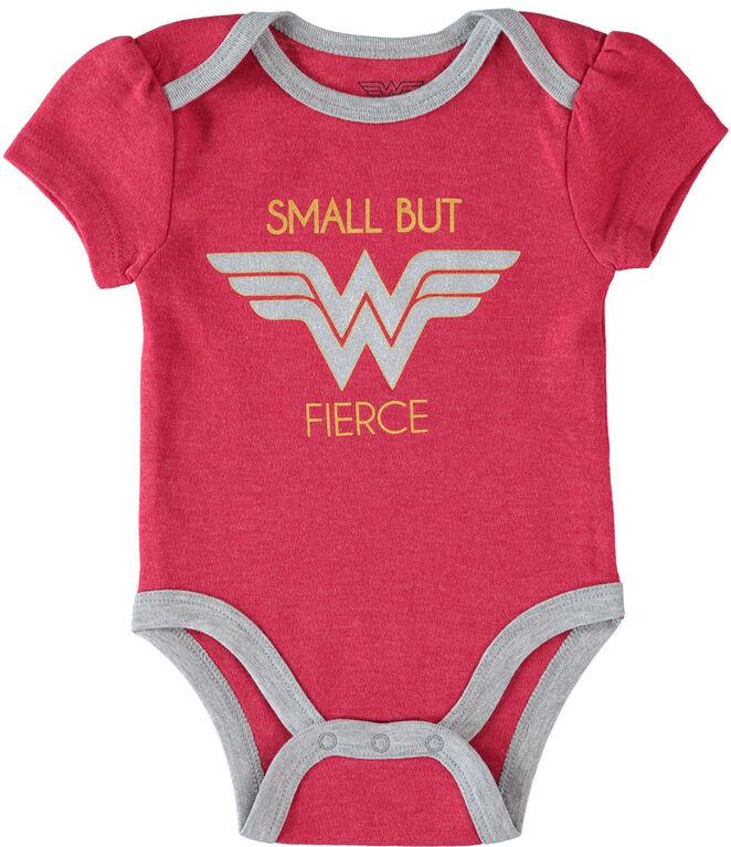 Wonder Woman nouveau-née 3 paquet le maillot de corps 3-6M rouge