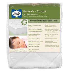 Sealy Naturals Cotton Crib Mattress Pad