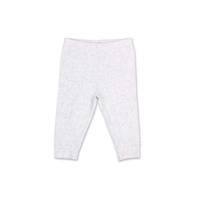 Ensemble 2pièces Koala Baby rayures d'été ludiques - tee-shirt Henley et pantalon de sport, 24 Mois