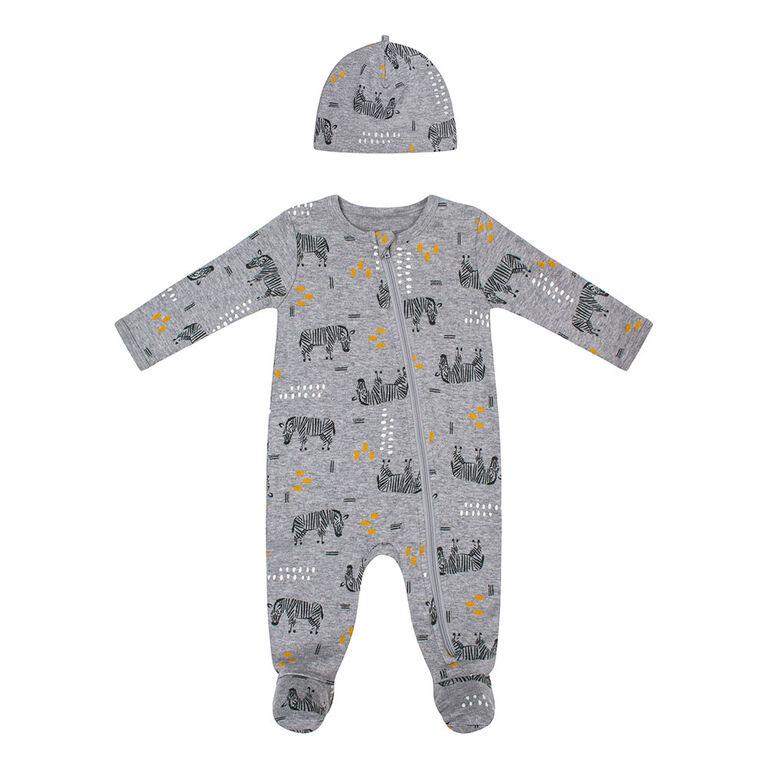PL Baby Safari Dormeuse et Bonnet en Tricot Gris3M