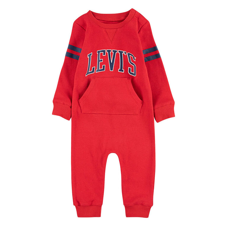 Levis Coverall - Red, 0/3 Months to Newborn