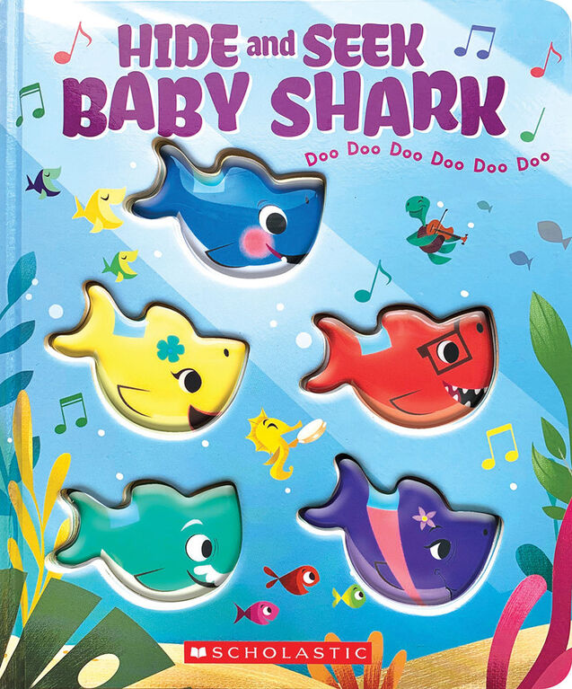 Scholastic - Hide-and-Seek, Baby Shark! - Édition anglaise