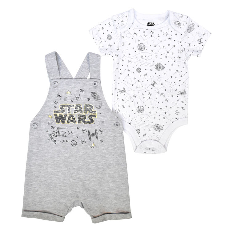 Star Wars 2 piece Shortall set - Grey, 18 Months