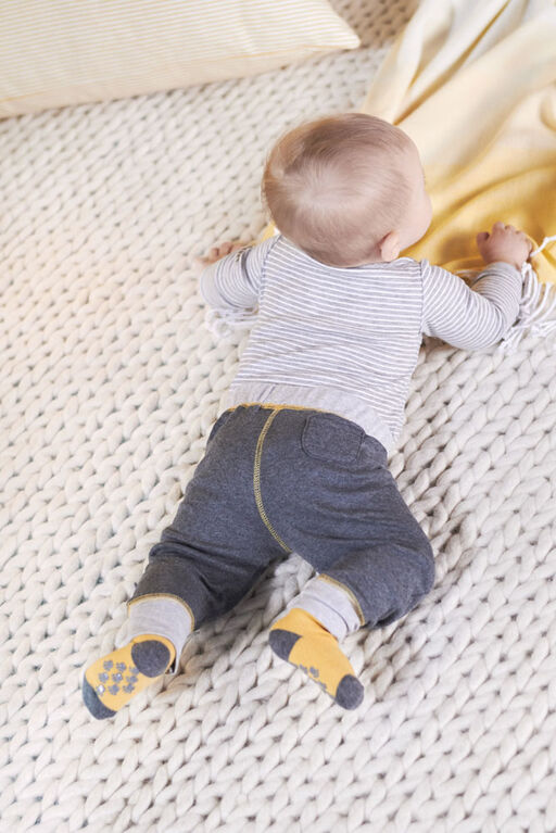 Lot de deux pièces: pantalon et maillot biologiques Onesies à manches longues pour nouveau-né garçon – Petit Lion 6-9 mois