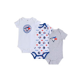 Snugabye Toronto Blue Jays 3 Piece Infant Bodysuit Set 9-12 Months