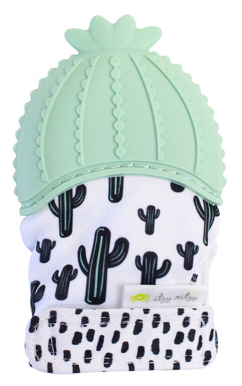 Gant de dentition Teething Happens d'Itzy Ritzy - Cactus.