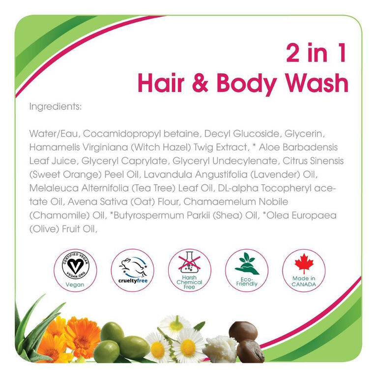 Aleva Naturals Hair and Body Wash 200ml