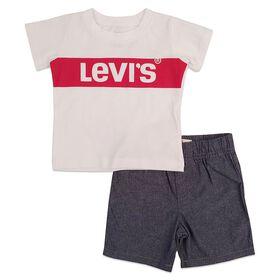 Levis Ensemble de short - Blanc, 12 mois.