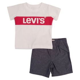 Levis Ensemble de short - Blanc, 24 mois.
