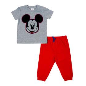 Disney Mickey Mouse ensemble panatalon 2 pièces - Rouge, 3 mois