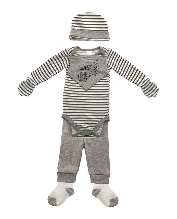Koalababy Grey 6 Piece Set - 6-9 months