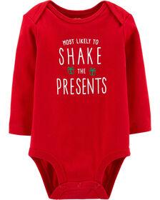 "Cache-couche Carter's des Fêtes à collectionner ""Shake The Presents"" - rouge, 6 mois"