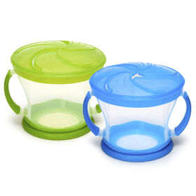 Munchkin Snack Catchers 2-Pack - Green/Blue
