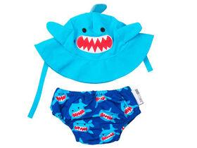 Zoocchini - Swim Diaper & Hat Set - Shark - Medium