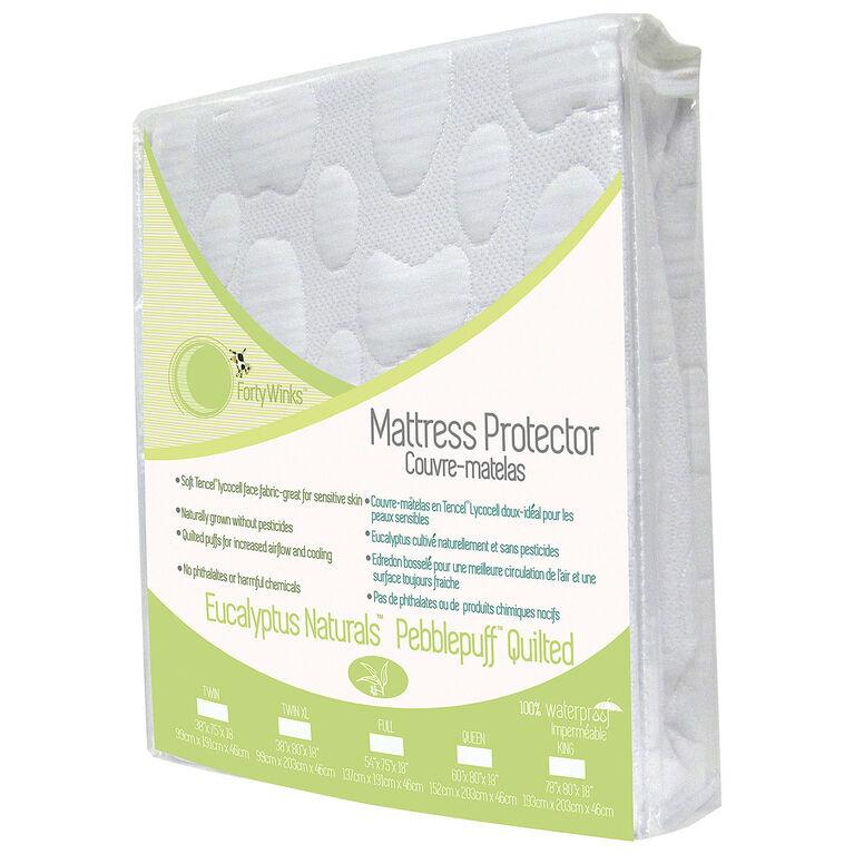 Forty Winks - Protège-matelas imperméable et respirant en Tencel (fibre d'eucalyptus) - Blanc.
