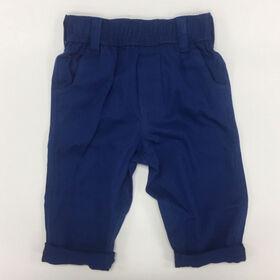 Coyote and Co. Pantalon en sergé à taille élastique - Bleu indigo - de 6 à 9 mois.