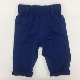 Coyote and Co. Indigo Blue Pull on Cotton Twill Pant - size 9-12 months