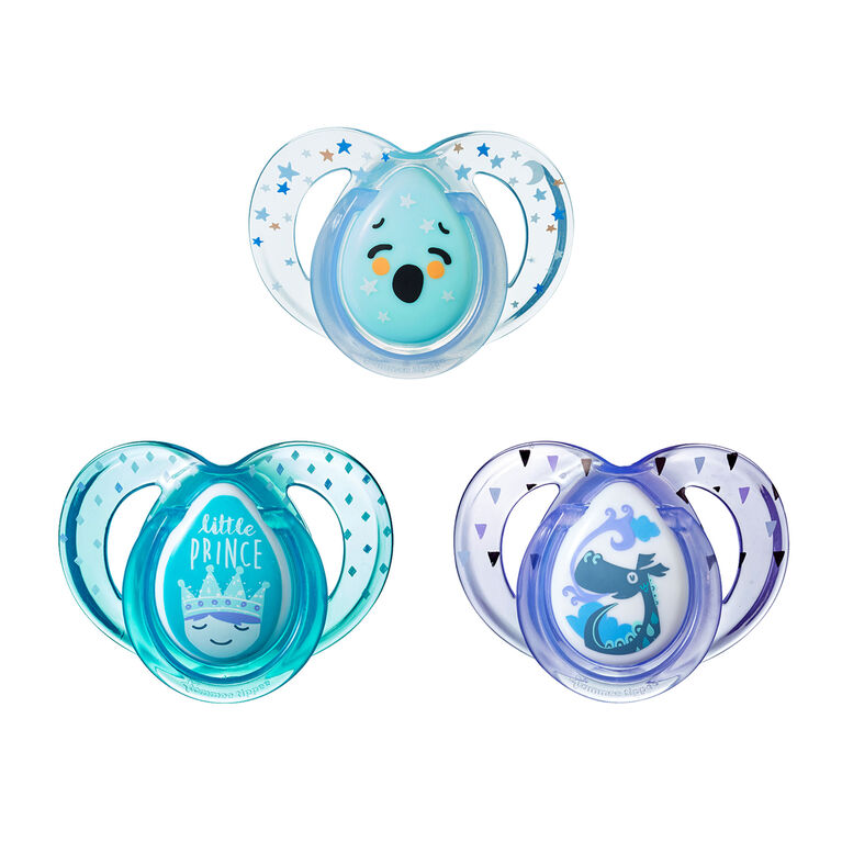 Tommee Tippee Day & Night Pacifier 3-Pack, 6-18 Months