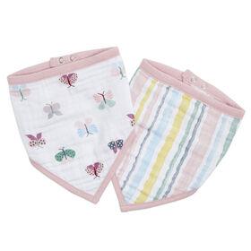 Aden Essentials - Floral Fauna Bandana Bib 2-Pack