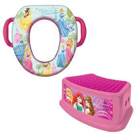 Disney Princesse formation Potty Combo Set - Soft Potty  & escabeau.