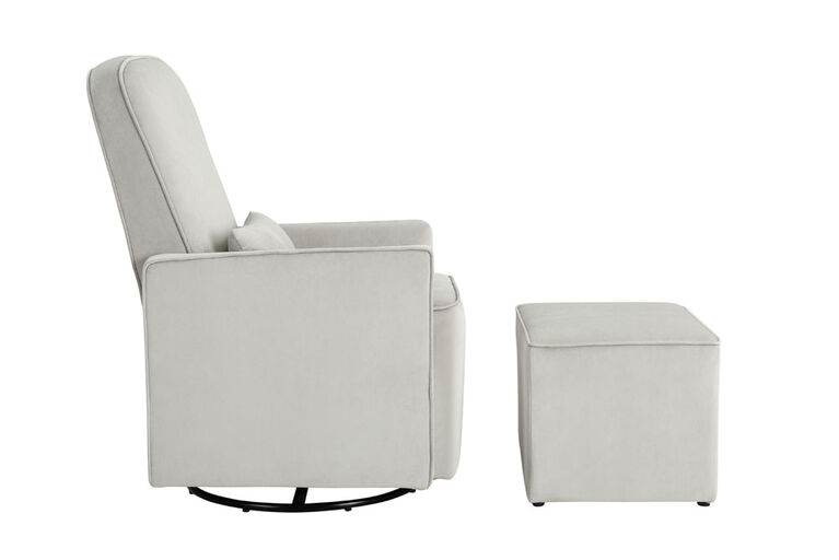 Lennox Chloe Swivel Glider with Ottoman & Lumbar Pillow