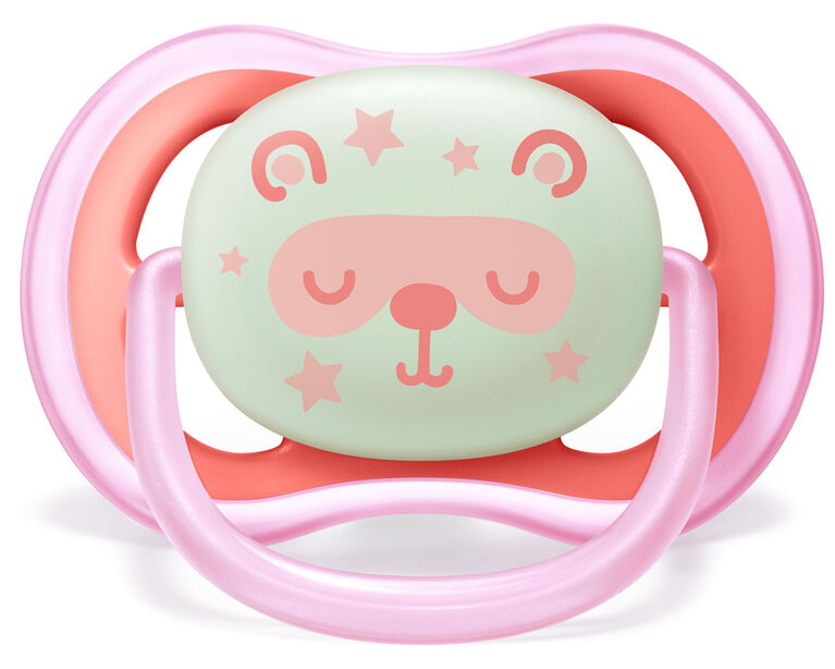 Philips Avent Ultra Air Nighttime Pacifier, 6-18 months, various colors, 2 pack