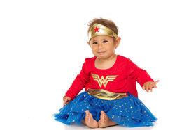 Wonder woman nouveau-née robe 12 mois rouge