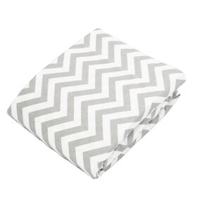 Kushies Playpen Fitted Sheet - Grey Chevron