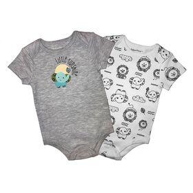 Fisher-Price 2-Pack Bodysuit - Grey, Newborn