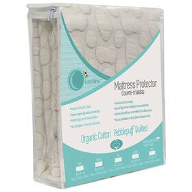 Forty Winks - Organic Cotton Quilted Waterproof, breathable crib mattress cover - Beige