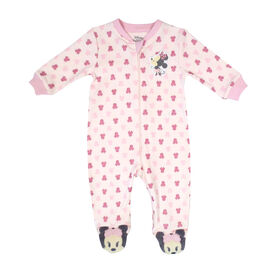 Disney Minnie Mouse 1-Piece Footed Sleeper - Pink, 6 Months