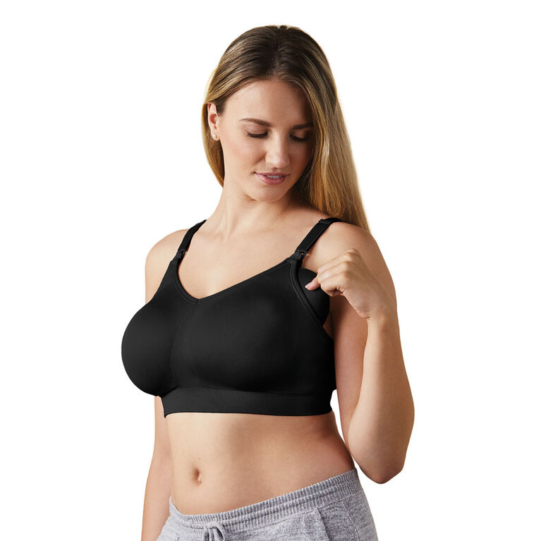 Body Silk Seamless Nursing Bra - Black, Extra Small
