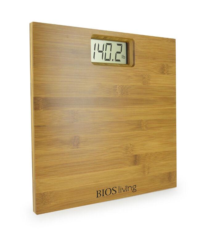 Bios Bamboo Bathroom Scale