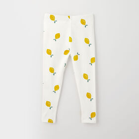 organic play legging, 9-12m - white lemon