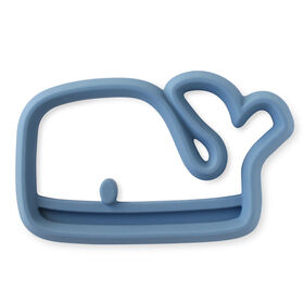 Itzy Ritzy Teething Happens Silicone Teether/Whle/Blue