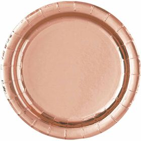 """Rose Gold  7""""  Plates 8 pieces"""