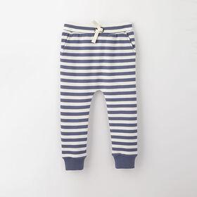 drop-crotch cozy sweats, 6-9m - light blue