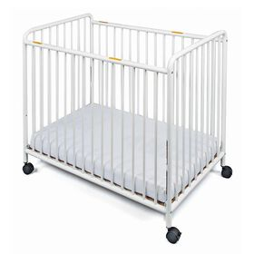 Foundations traditional steel compact crib with slatted ends