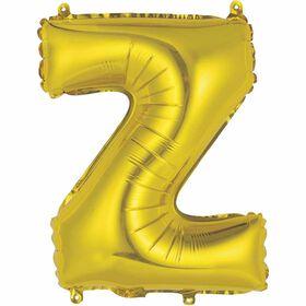 """Ballons en forme de lettre or 14 """" - Z"""