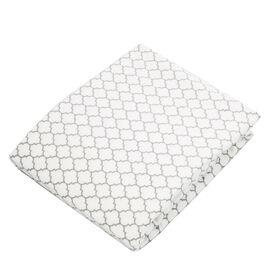 Kushies Playard Sheet Flannel Ornament Light Background Grey