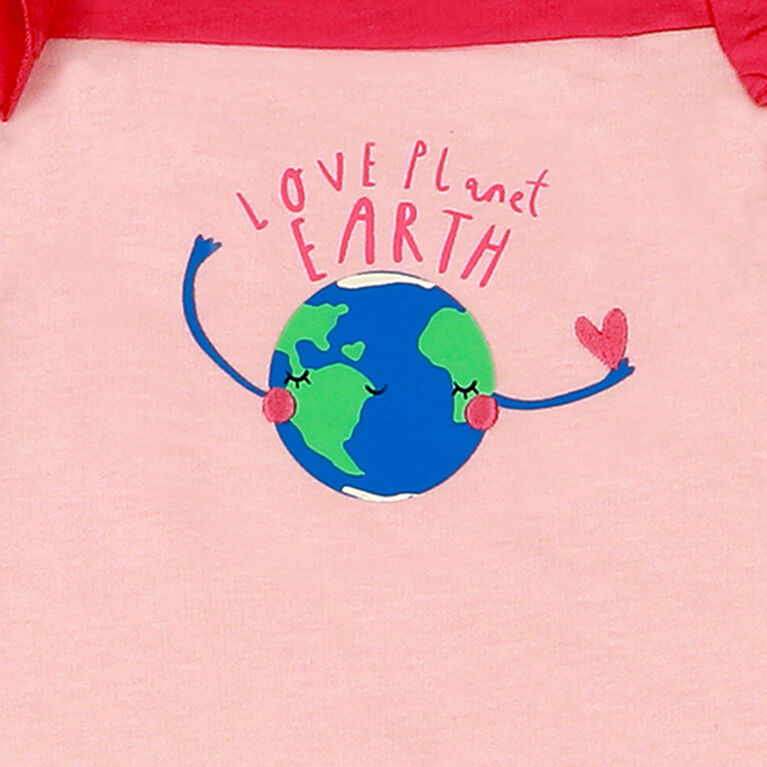 earth by art & eden - Maya Coverall Fleece Coverall - Crystal Rose, 3 Months