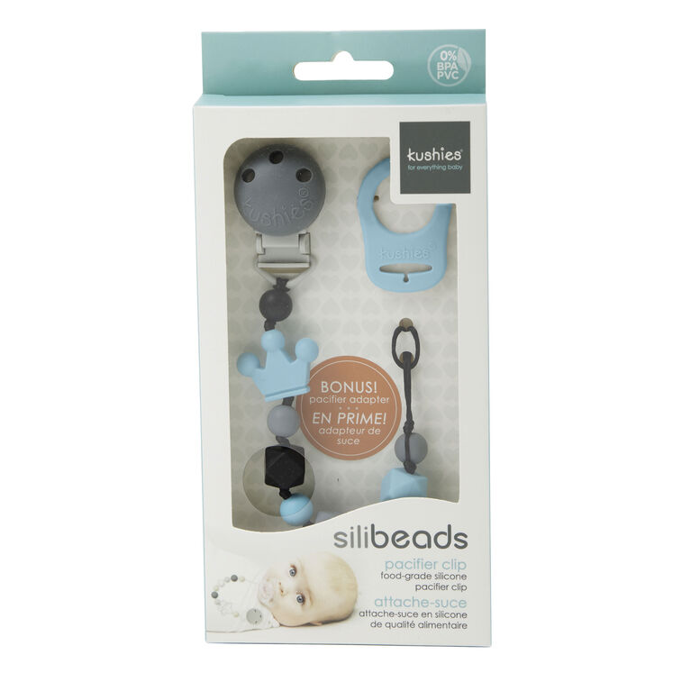 SiliBeads Silicone Pacifier Clips - Crown