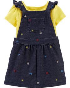 Carter's 2-Piece Bodysuit & Skirtall Set - Navy/Yellow, 12 Months