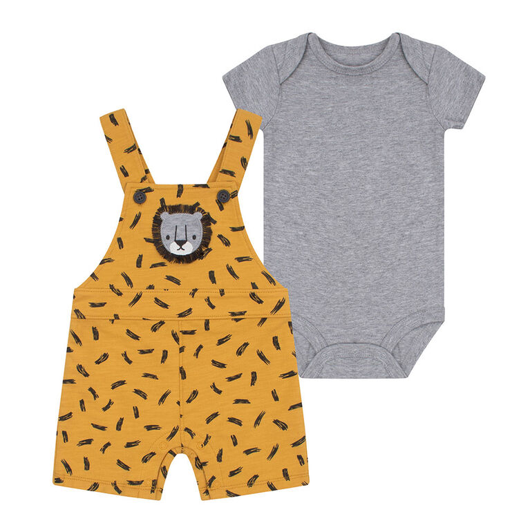 PL Baby Safari Ensemble Salopette Jaune 6M