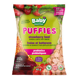 Baby Gourmet Strawberry Beet Puffs