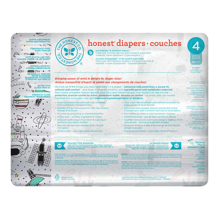 Honest Diapers Size 4 Space Travel.