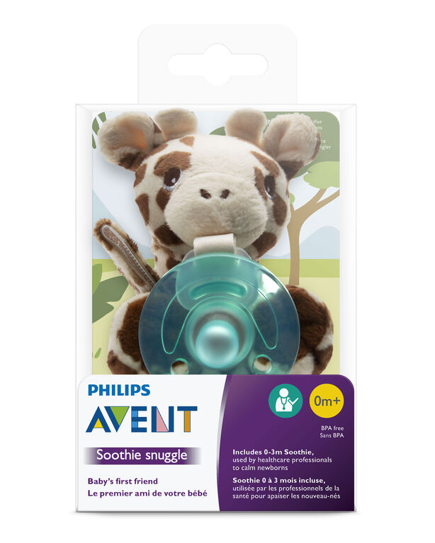 Peluche câlin pour suce Soothie Philips Avent, 0 mois+, girafe.